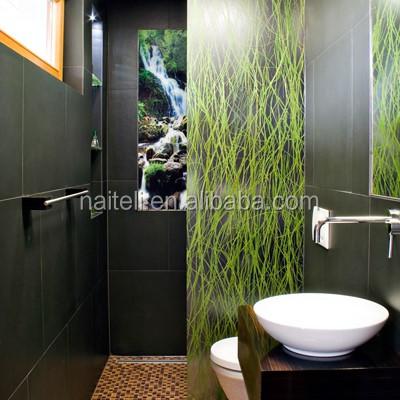 Luxury bathroom shower panel hanging acrylic sliding door for Luxus shower doors