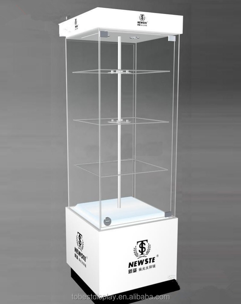 Wholesale retail acrylic display case, acrylic jewelry display showcase