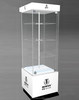 Wholesale retail jewelry glass tower display case, acrylic showcase, lighted display case with lock NEW