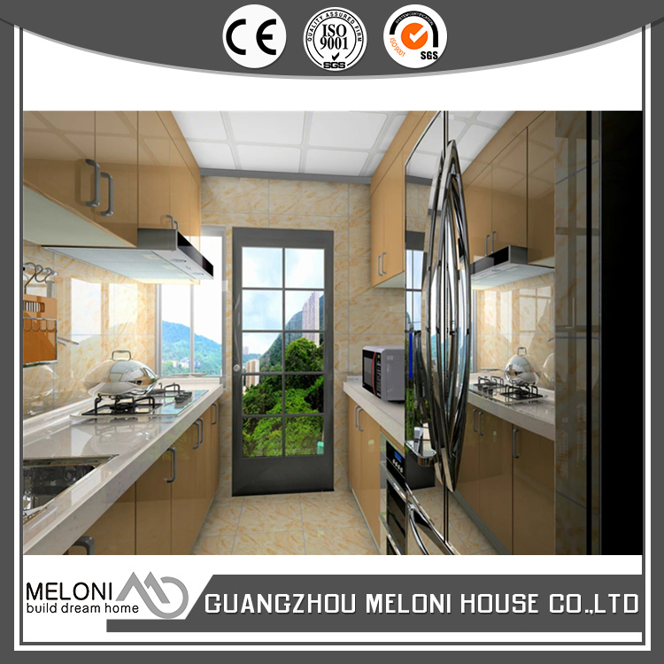 Integrated with fridge and microwave oven affordable lacquer kitchen cabinet