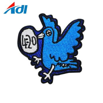Custom fashion animal garment labels woven embroidery patch in wholesale