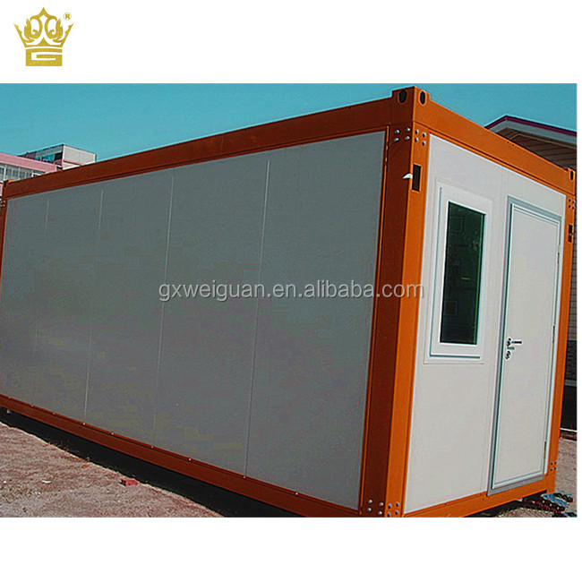Prefabricated log kit modular homes design with 20ft 40ft container house