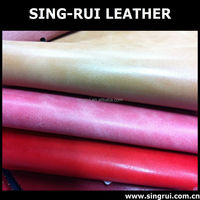Fashion pu synthetic leather, change color material for shoe made in china