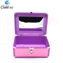 Portable aluminum beauty <strong>brush</strong> case cosmetic makeup kit for kids