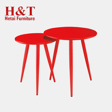 Home Furniture Coffee Table from China , Pu Painting Coffee Table With Metal Lges- 9364