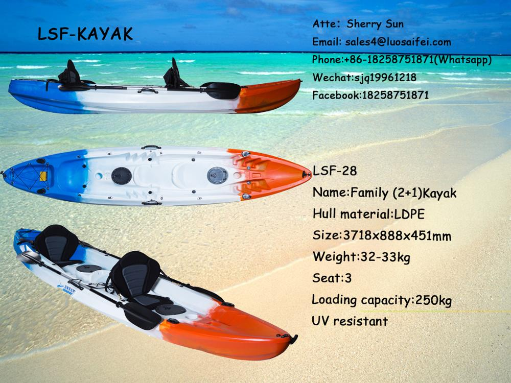 Adult sit on kayak/ best family kayak/ kayak 3 person for sale ocean kayak