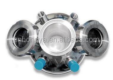 Sanitary Hot Sale Stainless Steel Hemispherical End Caps Lid With NPT And Sight Glass