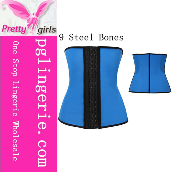 High Quality 9 steel bones latex waist training wholesale