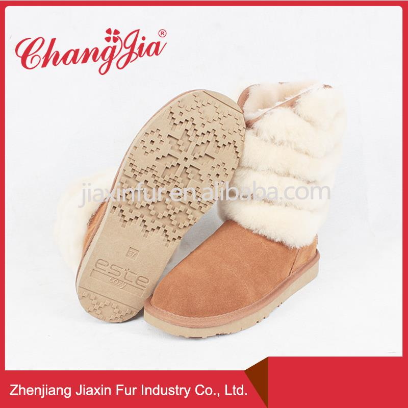 Multifunctional Warm Sheep Wool Snow Boots Women