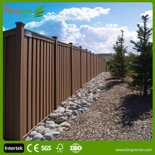 WPC Garden Fence Panel, cheap wood Plastic Composite Fence, outdoor retractable fence