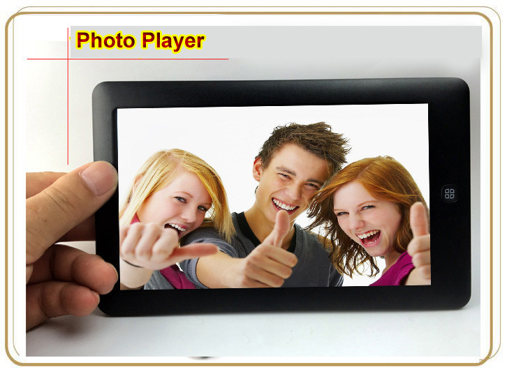 7 inch touch sereen MP4 player with 8GB capacity MP3 MP5 Player E-Book Reading (DWS73)