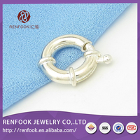 RenFook factory direct sale 925 sterling silver round magnetic clasp manufacture