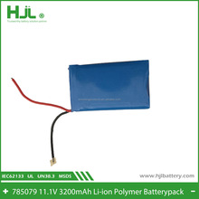 Coffee machine li-ion polymer batterypack 785079 3200mAh 11.1V