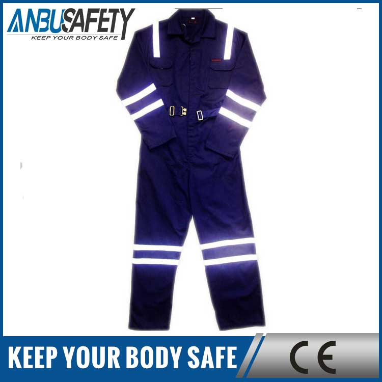 Hot selling hi vis engineering safety workwear coverall with reflective tape