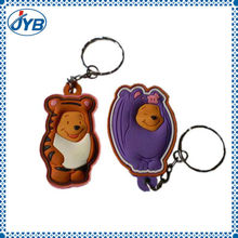 monkey shaped glow in the dark keychain