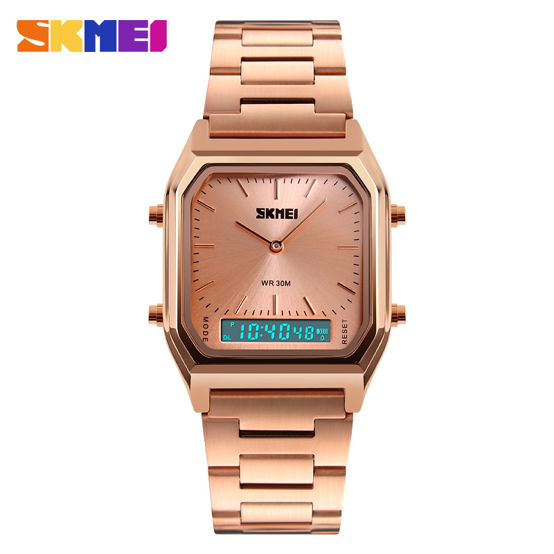 Skmei Best Selling Wrist Watches For Couples Fashion Golden Retro Wholesales