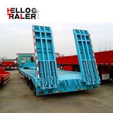 China manufacturing used and new 3 Axle 60 Ton Semi Truck Trailer dimensions low bed trailer
