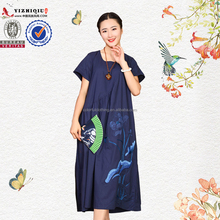 Hottest Chinese embroidered loose clothing casual dress for women