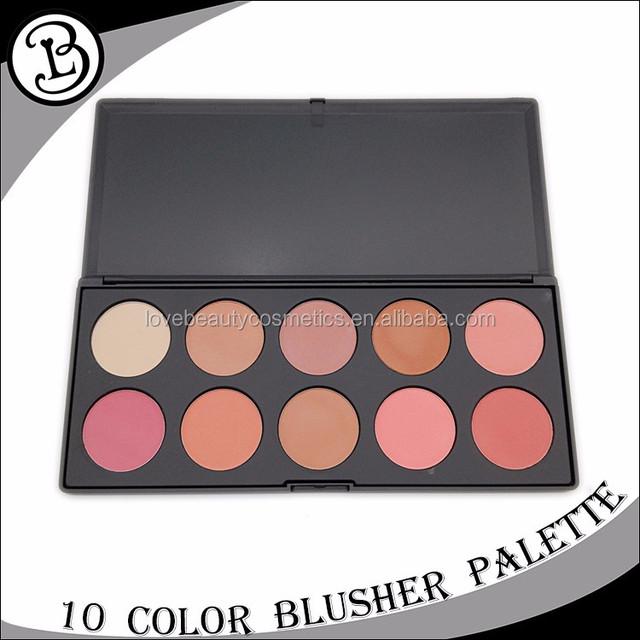 2017 New No Logo 10 color cosmetic cheek blush makeup blusher palette
