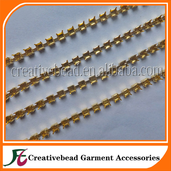 8mm gold brass empty fancy cup chain