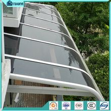 diy free standing awning modern design polycarbonate roof metal aluminum frame french window canopy