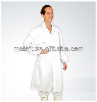 PP nonwoven disposable Lab coat/nonwoven lab coat/medical coats/work suit/visitor coat with elastic cuff and button