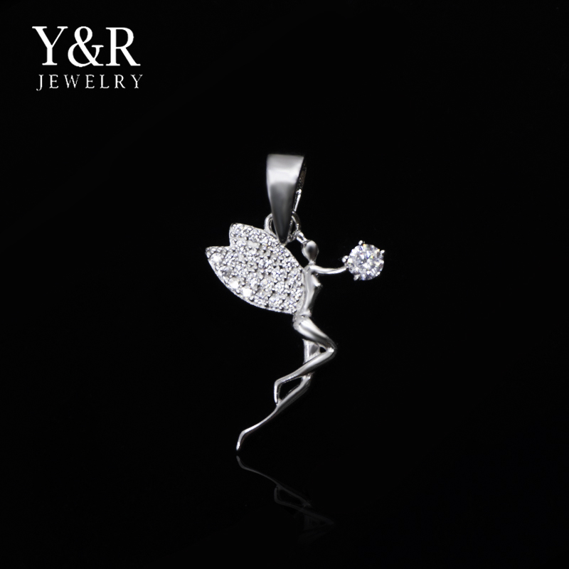 Wholesale Jewelry Flying Princess Sterling Silver Gemstone Pendant