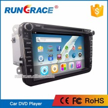 2 din car DVD player car multimedia radio full touch screen for vw polo