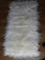 Mongolian Lamb Fur / Curly Hair Tibetan Sheep Fur Plate / Curly Lamb Fur
