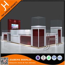 Custom used wooden glass retail jewelry mall kiosks design for sale