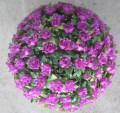 30CM Purple Artificial Rose Ball Plastic Rose Ball Decoratice Flower Ball