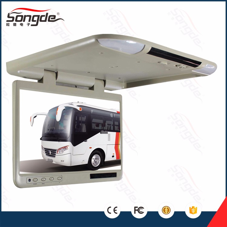 Monitor led roof mounted flip down tv ceiling monitor for bus