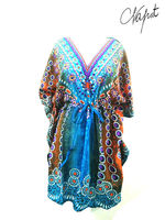 NEWEST BEACHWEAR LADY'S FASHION BOHO DRESS , SHORT DRESS THAILAND CLOTHING CHEAP