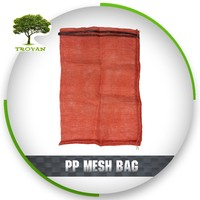 Direct manufacturer reusable mesh makeup bag,pp mesh bag for onion,orange mesh plastic bag