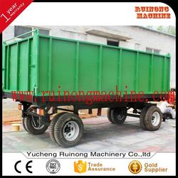 made in China double hurdle 8 ton farm trailer for Africa market