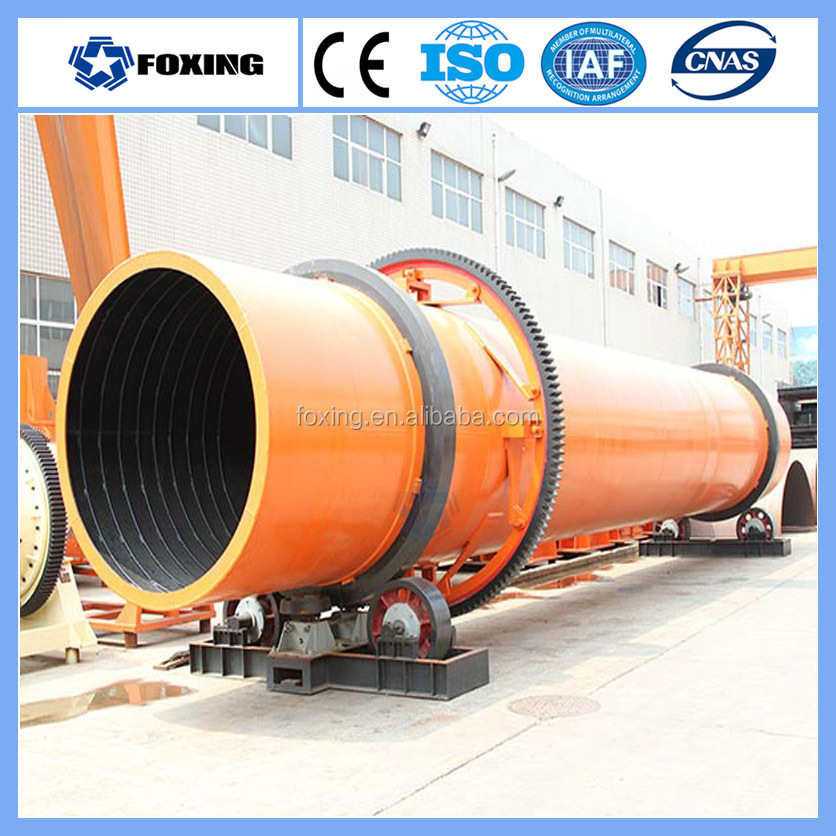 Cow manure industrial rotary drum dryer