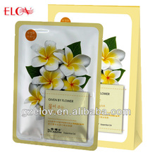 Flower Essential Oil Non Woven Paper Face Mask ,female facial mask