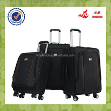 Black Four Wheels Spinner 360-Degree Built-in Luggage Protector