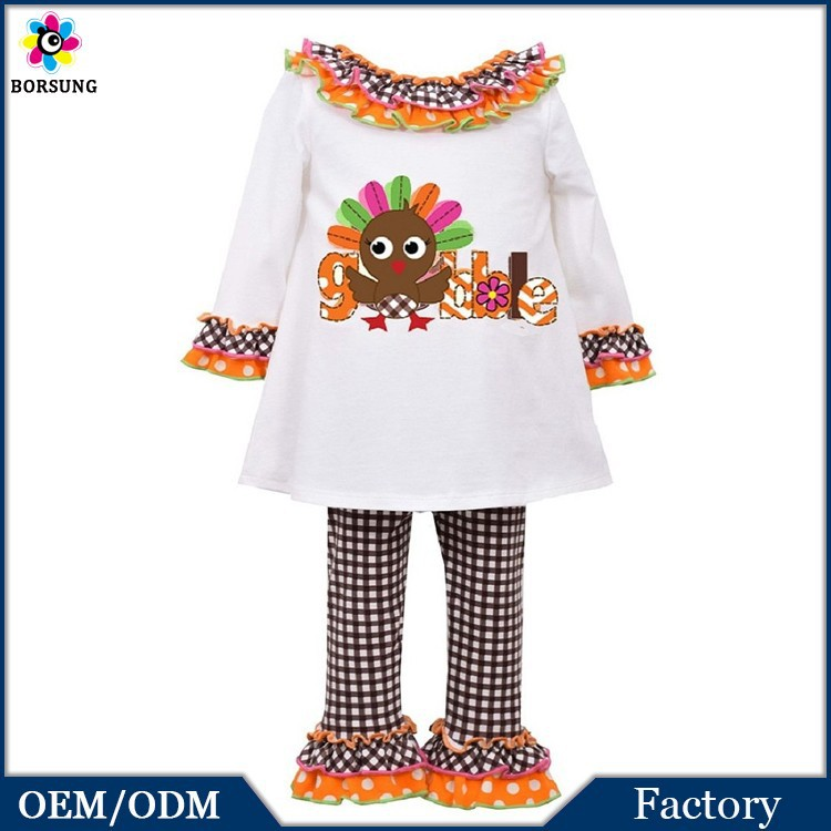 Persnickety 2015 Latest Girls Boutique Fall Clothing Children Thanksgiving Outfits