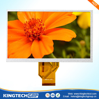 High Brightness 50 pin 7 inch 800x480 transparent tft lcd monitor