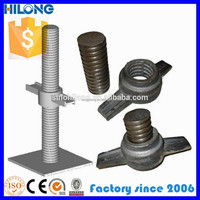 Hollow or Solid Adjustable Scaffolding shoring screw jack
