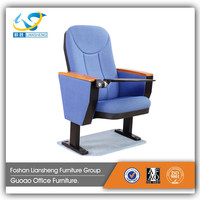 Best price reclining double feet cinema auditorium chair audience chair LS-34