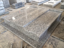sea wave white/ spary white granite tombstone design