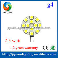 Daylight color high lumens g4 led auto lamp