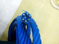6 strand pp combination rope, pp mix stainless steel