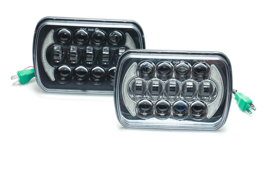 Loyo 105W 85W 5X7 Square led headlight for Jeep YJ offroad 4x4 Vehicle