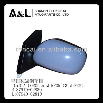 Side Mirror For Toyota Corolla Three Wires Blue Auto Parts Side Mirror