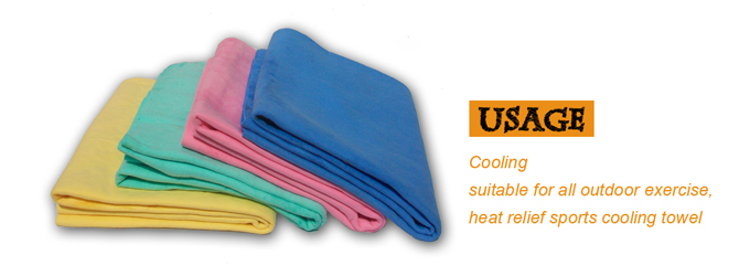 Gold Supplier Pva Ice Cooling Towel Custom Design Cooling Sports Towel For Swimming