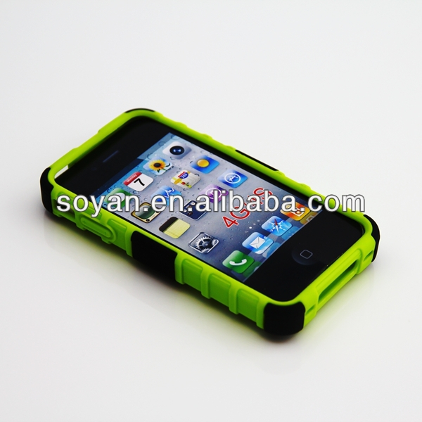 Mobile phone accessories in Shenzhen, 2 in 1 hybrid cases for IPhone 4/4s, Hybrid cases with stand function