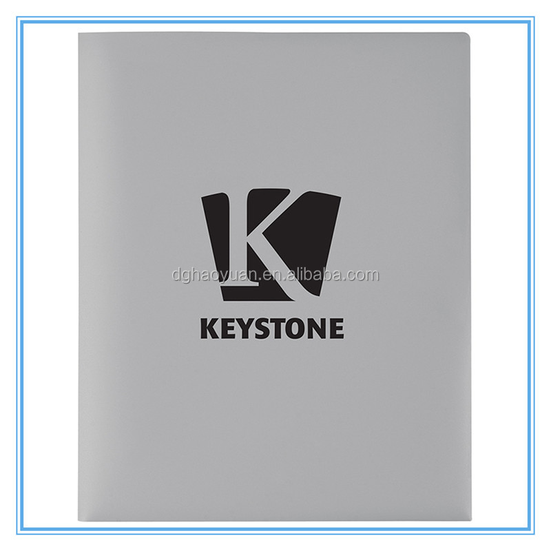 High quality customized plastic file folder with string